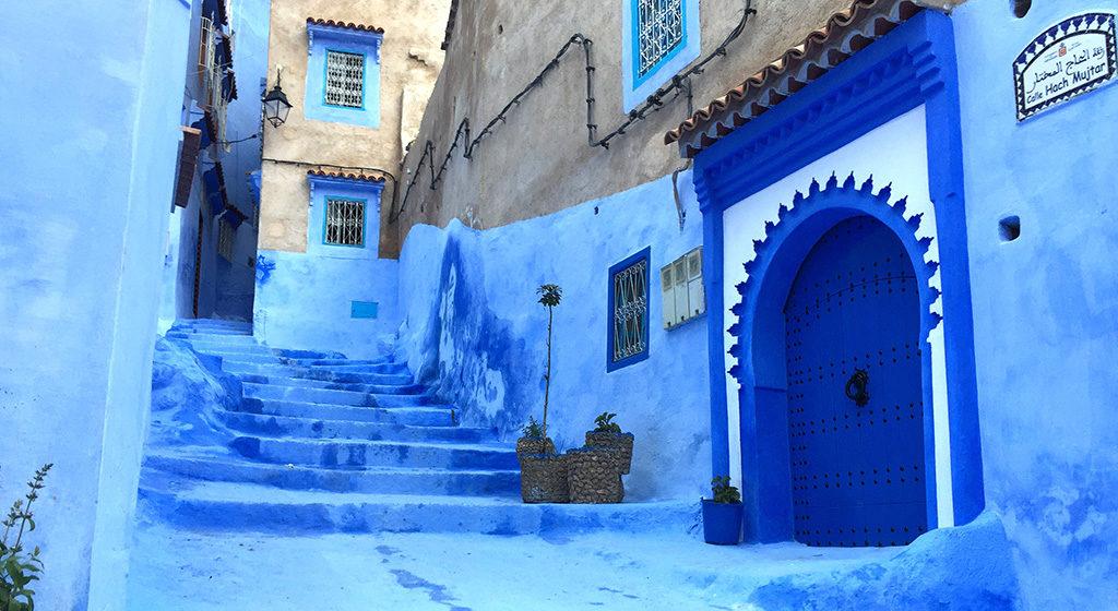 Tipica puerta de Chaouen