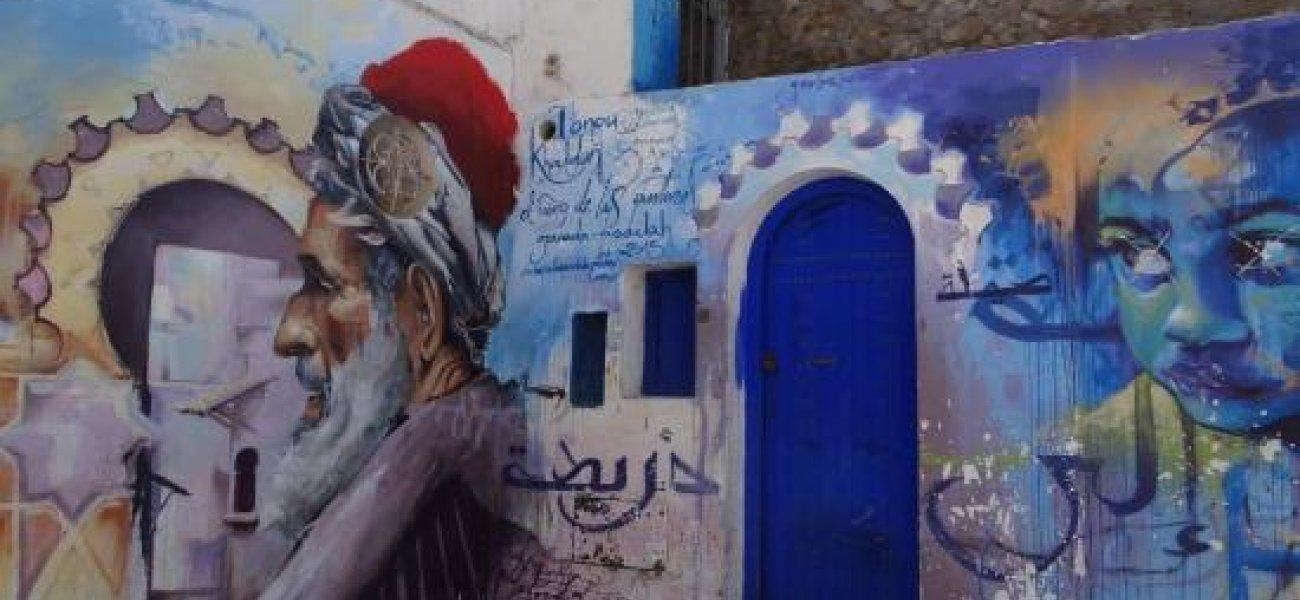 Arte callejero en Asilah